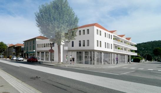 Un bâtiment ouvert sur la ville - Perspective de concours (c) PdV